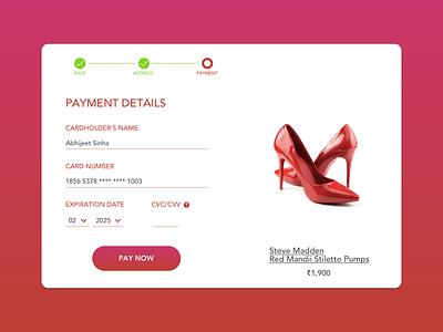 Payment Details - Landing Page sketchapp design ux ui landing page web design payment details
