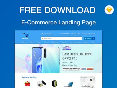 E-commerce Landing Page - Free Download freebie sketch sketchapp web design ecommerce landing page ux ui
