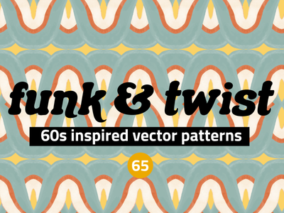 Watercolor Vector Patterns 60s Inspo 70s vintage retro seamless abstract vector creative market set pattern clipart illustration