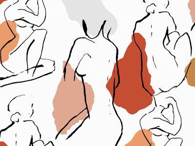 In The Nude Vector Clipart Set
