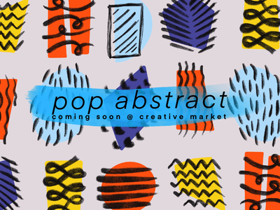 Pop Abstract Vector Clipart