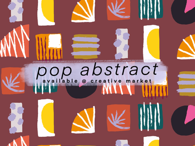 Pop Abstract Vector Clipart Set