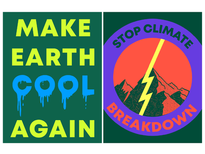 CLIMATE CHANGE Clipart Set