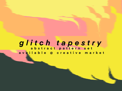 Glitch Tapestry Pattern Art Set