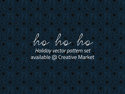 Holiday Pattern Pack @ Creative Market creative market holiday patterns newsletter banner vector ribbons vector patterns