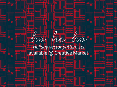 Holiday Pattern Pack @ Creative Market clipart christmas card vector patterns holiday