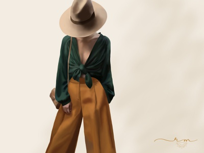 Digital Painting- Jazy Goh trendy painting photoshop clothing fashion digital painting digital art