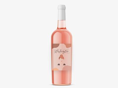 Blushing Bun Rosé feminine blush pink rosé wine visual design ui ux graphic design design branding