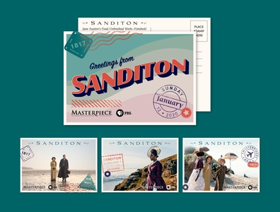 Sanditon Vintage Postcard Set