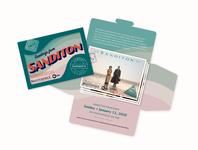 Sanditon Vintage Postcard Set and Envelope