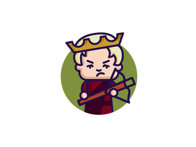 Joffrey Baratheon - Game of Thrones the world of ice  fire the storm of swords a dance with dragons the winds of winter lannisters chibi minimal dribbble lannister crossbow adobe illustrator illustration character illustration character design character westeros cersei game of thrones