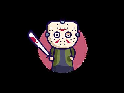 Jason Voorhees american horror design character design adobe illustrator illustration