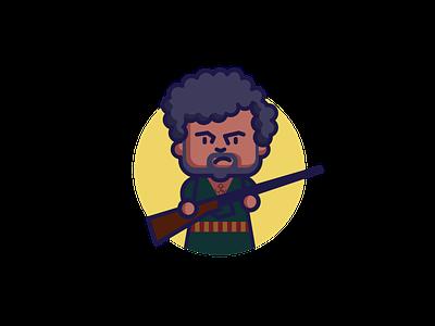 Gabbar Singh - Sholay bollywood amjad khan character design character illustration character design adobe illustrator illustration