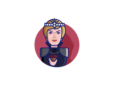 Cersie Lannister- Game Of Thrones(GOT) cersie westeros hbo winter is coming george r r martin fiction fantasy lena headley a song of ice and fire cersie lannister lions house of lannister lannister got game of thrones design character illustration character illustration