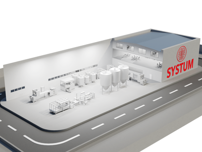 Chemical plant renders production chemistry plant blender3d blender logo design render art 3d