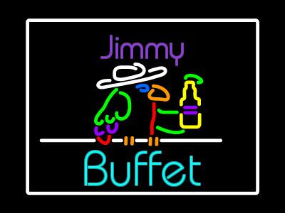 Jimmy Buffet Bar neon