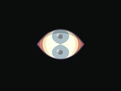 Double Vision affinitydesigner vector illustration flat design eyeball eye