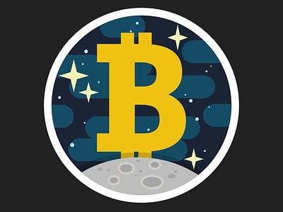 To The Moon affinitydesigner vector illustration flat design bitcoin btc