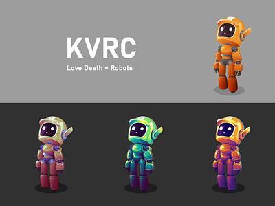 KVRC robot adobe illustrator vector illustration design kvrc