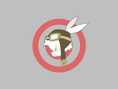 Battle Bun badge flight simulator dcs bunny adobe illustrator flat vector design