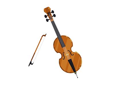 Cello flatdesign vector illustration vector design musical instrument music cello adobeillustrator adobe adobe illustrator illustration flat design vector