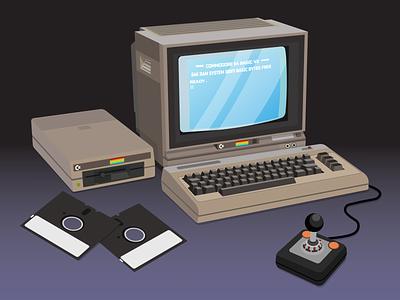Commodore 64 adobe flat graphicdesign vector design vector illustration adobe illustrator illustration vector design commodore commodore 64 old computer