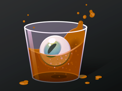 Whiskey flat design graphicdesign vector illustration vector design adobe illustrator illustration flat design vector eyeball whiskey