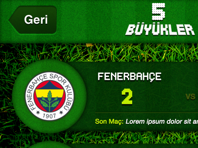 Bes Buyukler grass iphone ui football team fenerbahce application sport sports soccer green