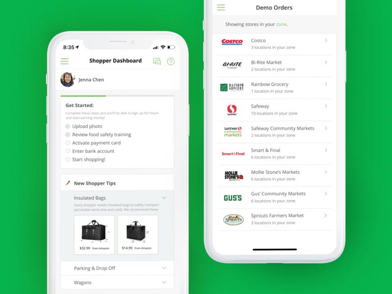 Instacart Shopper App Exploration human centered user experience product design uiux ux ui mobile mobile design