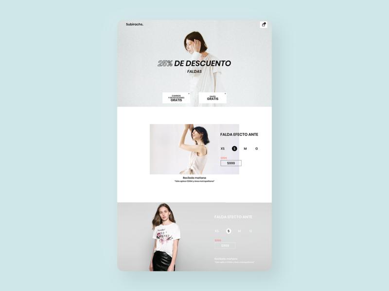 Landing page for fashion store uix ecommerce landingpage web ux ui