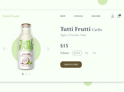 Online store for Tutti Frutti