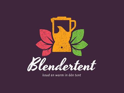 Blendertent blender tent fruit vegetables smoothie soup juice leafs healthy cold warm vintage
