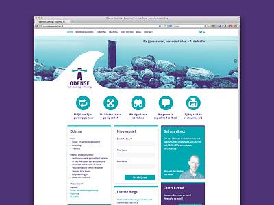 Odense Website photography website ui interface cms wordpress responsive coach coaching