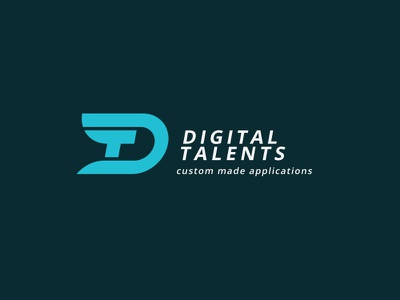 Monogram logo Digital Talents monogram logo digital talent initials application software typography