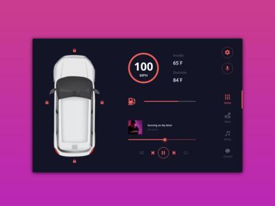 Daily UI - 034 - Car Interface carinterface dailyui34 daily34 adobexd weihuang clean ui minimal design dailyuichallenge dailyui