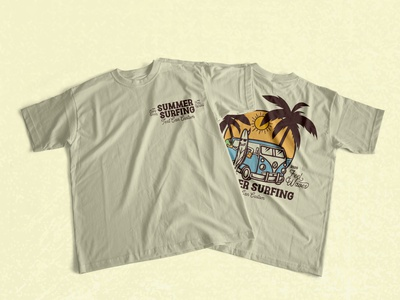 SUMMER SURFING   VINTAGE BUNDLE DESIGN t-shirt design t-shrit skate retro design bundle bundle design vintage design surf surfing typography logo vector design branding illustration lettering