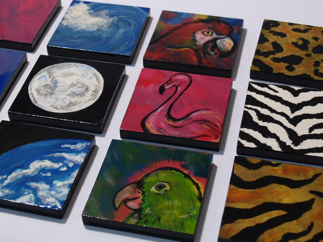 Hand Painted Coasters freestlye hand painted hand drawn paint brushes household diy handmade photography illustrator design illustration painter painting acrylic painting acrylic commission
