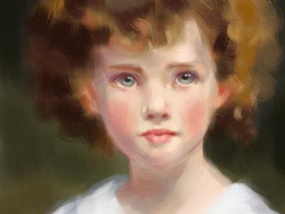 Girl with Curley Hair