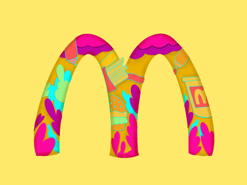 Illustration Based McDonalds Logo