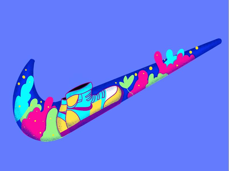Illustration based Nike Logo