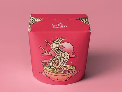 Noodles Packaging Design branding design branding packagingdesign packagedesign package design packagingpro packaging bowl noodles mock up mock-up mockup illustration