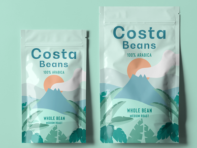 Brand and Package Design for a Coffee Bean Company coffee bean coffee logo package design package brand identity branding brand
