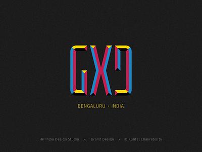 GXD (Gobal Experience Design) HP Design Studio ambigram cmyk color printer india design logo branding