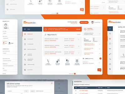 Insurance company Customer portal customer portal ui design dashboard insurance company
