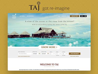 Taj hotels website landing page taj hotel redesign design ux ui website palaces resorts hotels taj