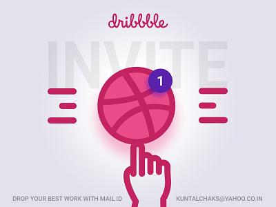 Dribbble Invite graphic design branding dribble invite