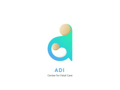 ADI - Center for Fetal Care care fetal center adi branding minimalistic logo child mother maternity hospital