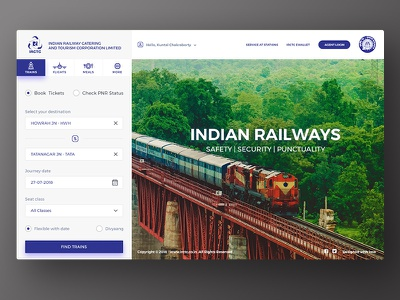 IRCTC - India's train booking portal meal wallet train portal webpage ticket booking online catering railway indian irctc