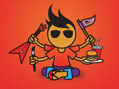 Gyri - The creative part in you design logo branding vector graphic design illustration print gyri character design