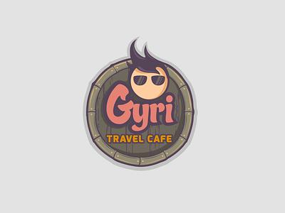 Gyri Travel Cafe restaurant cafe travel indian icon character design design illustration vector india graphic design branding logo